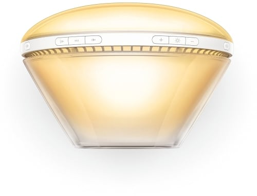philips wake up light alarm clock hf352001 close up view from above