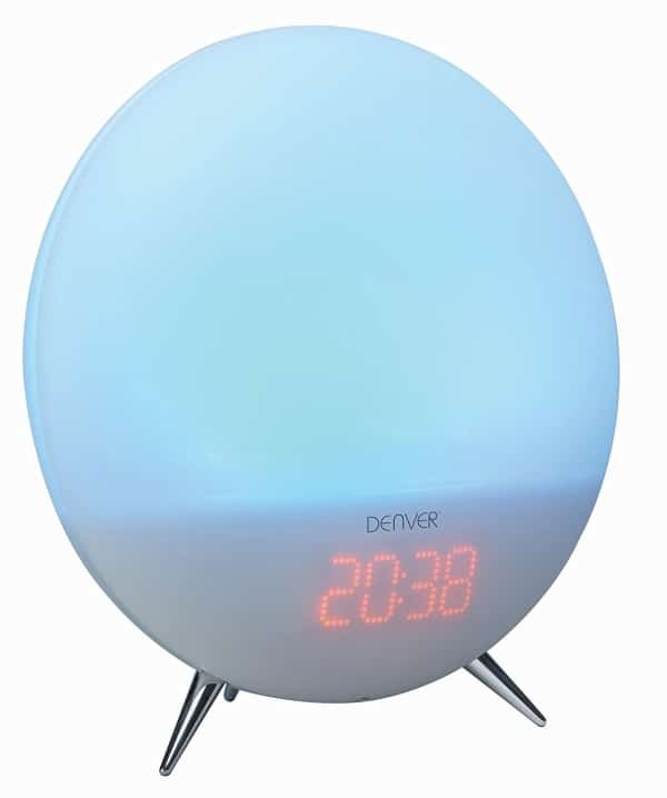 denver electronics crl-310 wake up light close up