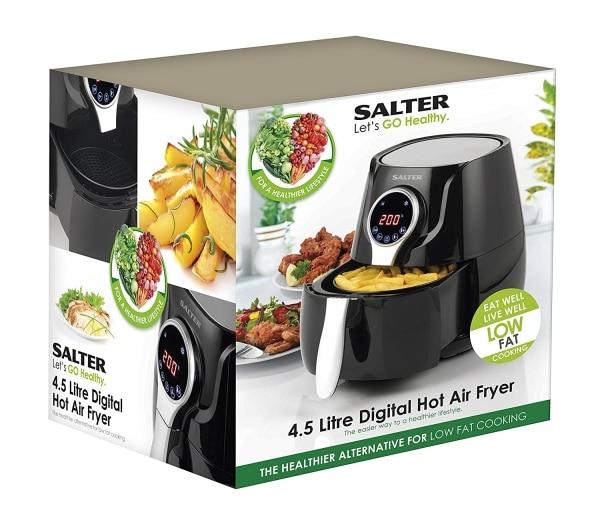 salter ek2205 air fryer boxed view