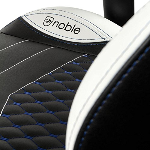 noblechairs epic gaming chair black with white stitching vegan pu leather option