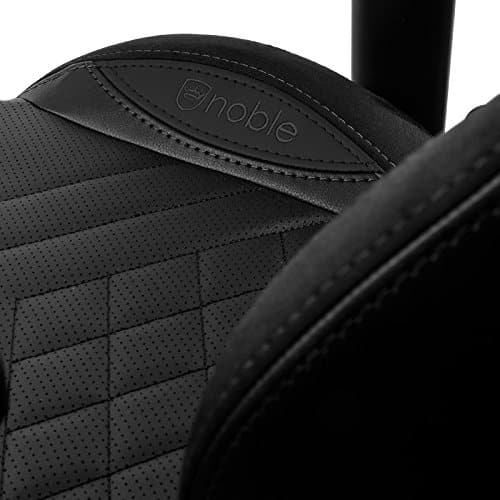 noblechairs epic gaming chair pure black stitching vegan pu leather option