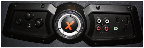 x dream rocker ultra 4.1 gaming chair control panel closeup