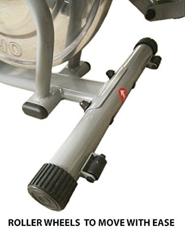 fitnessform p1100 cross trainer wheel view