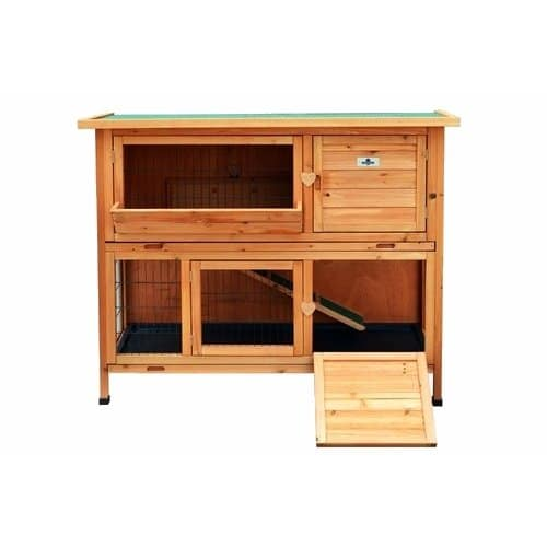 Confidence Pet 4ft Deluxe Rabbit Hutch door down
