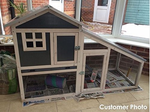 Guinea Pig and BUNNY ARK Hybrid Double Tier hutch RH10 indoor or outdoor