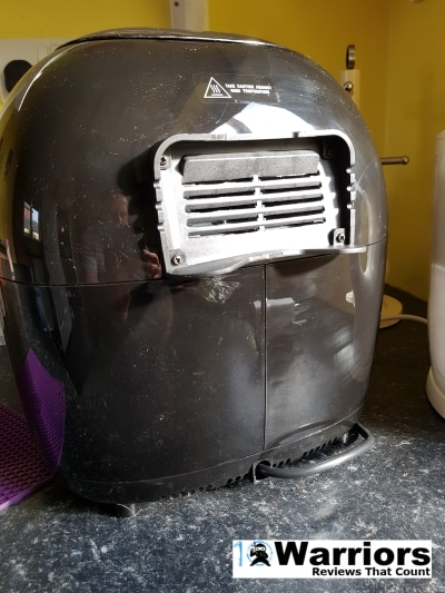 Duronic AF 1 air fryer back vent hot air release