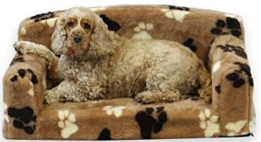 fur paws faux pet bed