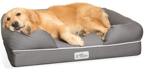 petfusion memory foam waterproof dog bed
