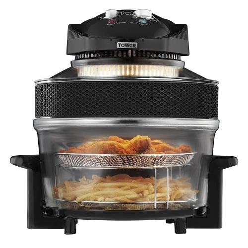 tower t14001 healthy halogen air fryer with extension ring