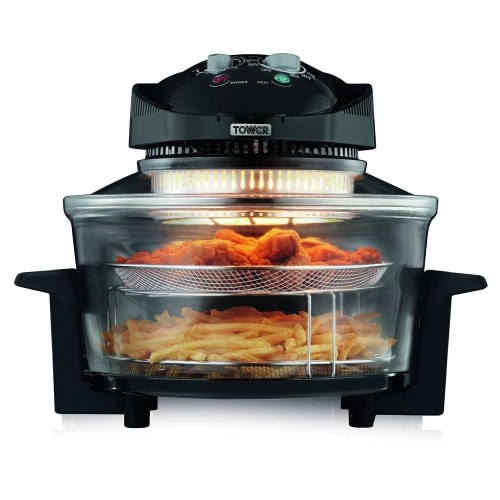 tower t14001 healthy halogen air fryer close up