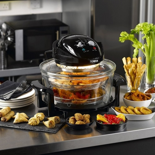 tower t14001 healthy halogen air fryer cooks beautiful food