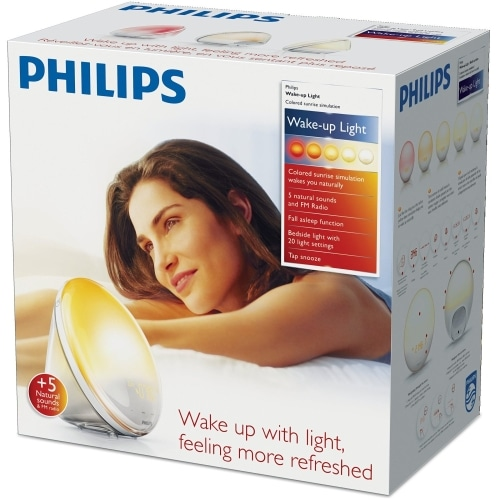 philips wake up light alarm clock hf352001 boxed close up