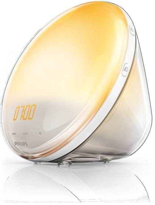 philips wake up light alarm clock hf352001 close up