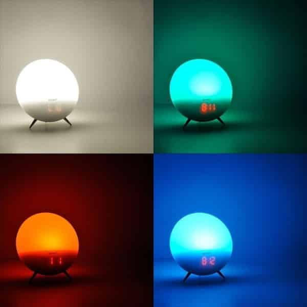 denver electronics crl-310 wake up light with various colours