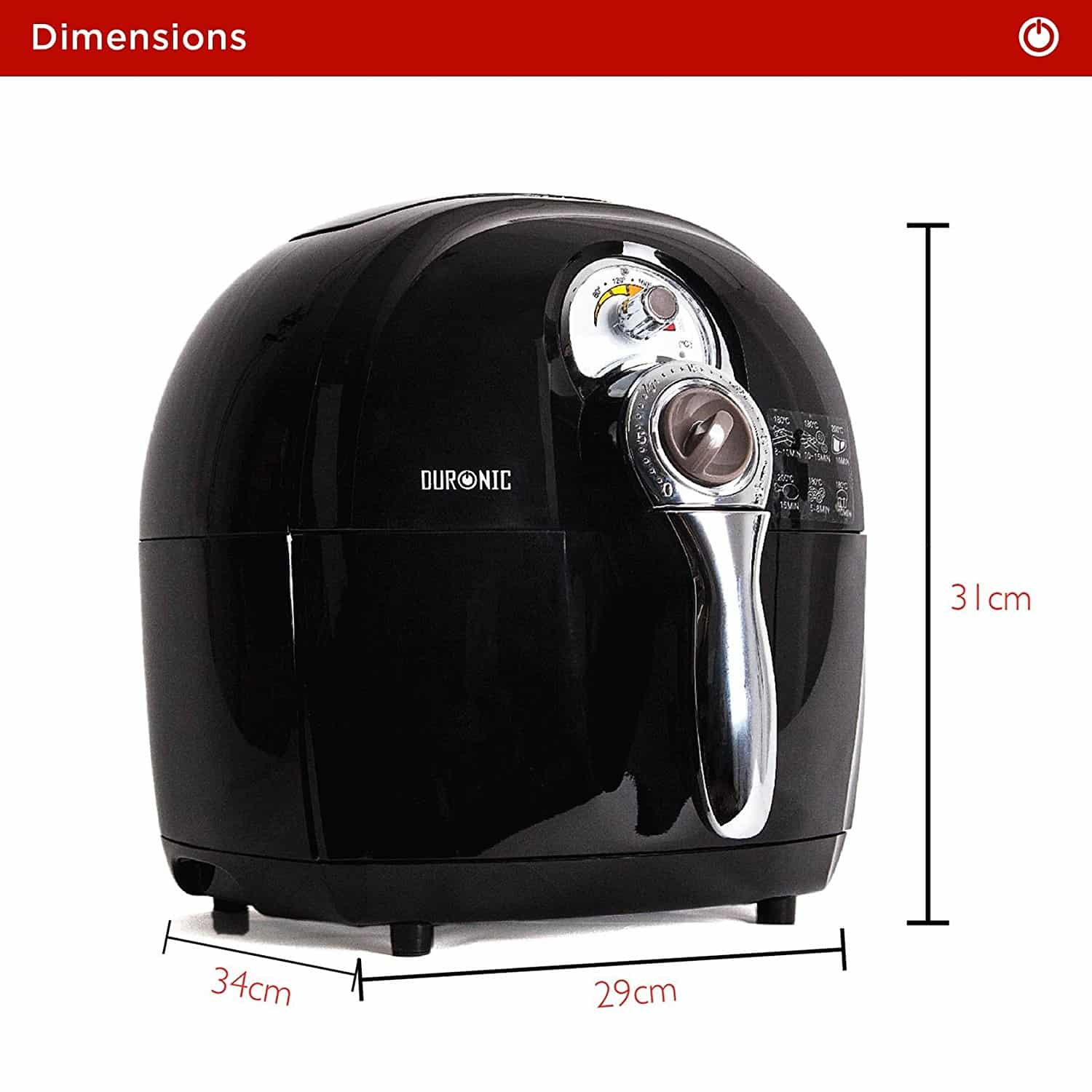 The duronic af1 air fryer dimensions