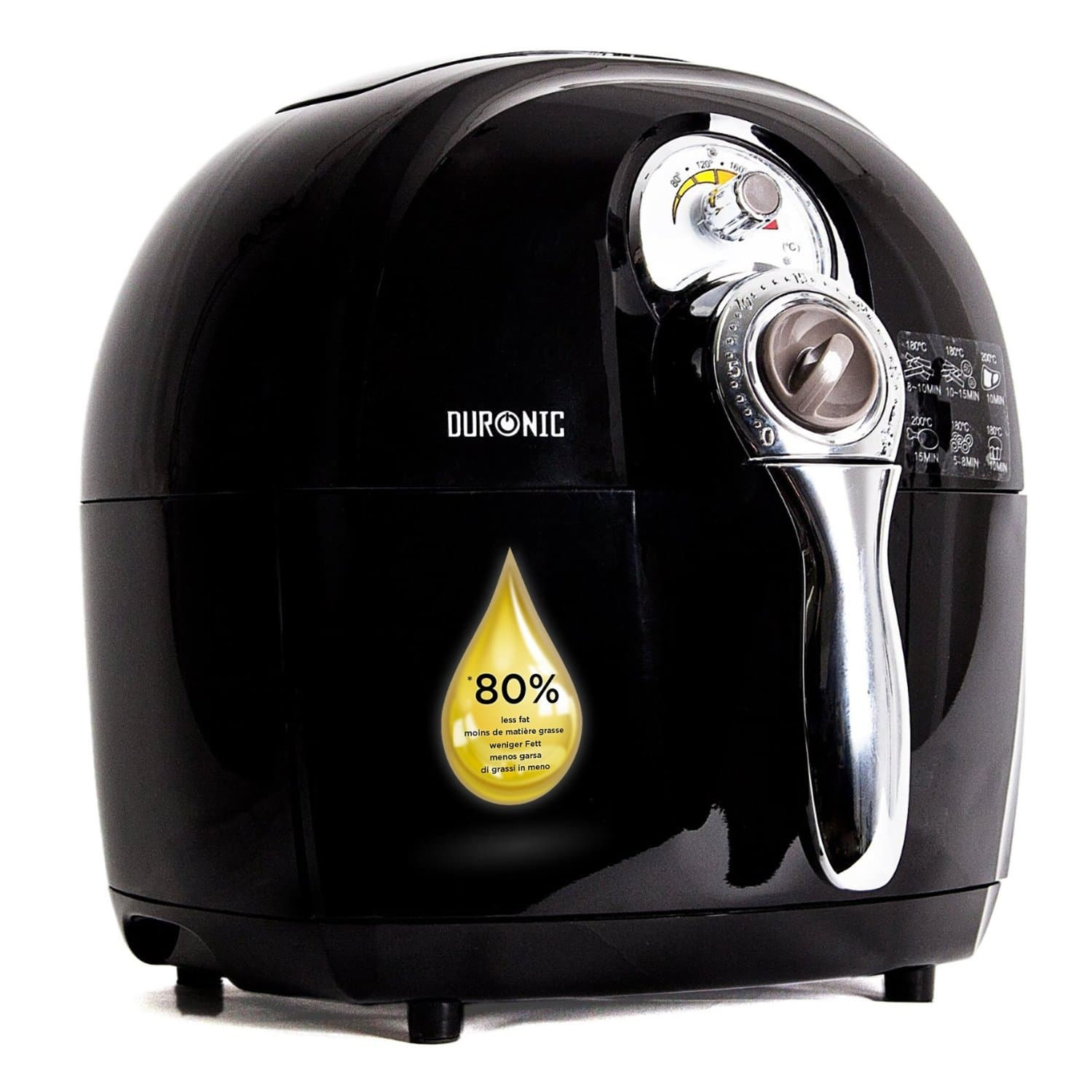 duronic af1 air fryer in Black