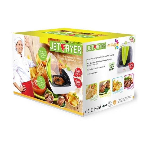 jml jet hot air fryer in box