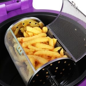 klarstein vitair turbo halogen broiler air fryer basket