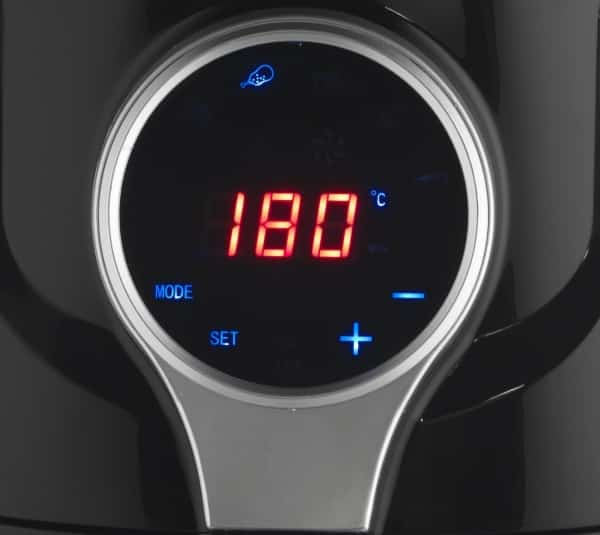 salter ek2205 air fryer display close up