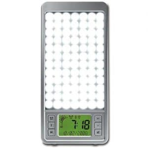 srs 320 2 in 1 natural wake up light with 10000 lux front view