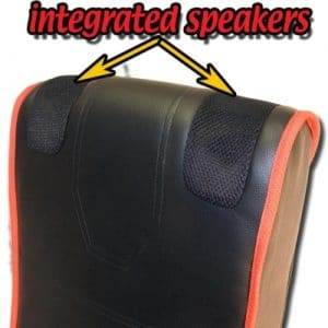 cyber rocker folding gaming chair built in speakers