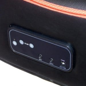 cyber rocker folding gaming chair control panel close up