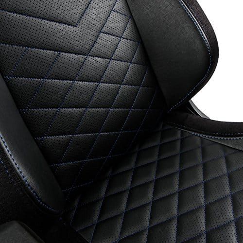 noblechairs epic gaming chair black with blue stitching seat vegan pu leather option