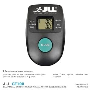 JLL CT100 2 in 1 elliptical cross body trainer computer