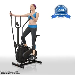 JLL CT100 2 in 1 elliptical cross trainer angle view upright