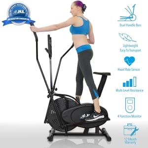 JLL CT100 2 in 1 elliptical cross trainer main view
