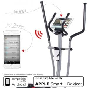 Sportstech CX610 crosstrainer with Smartphone App for devices