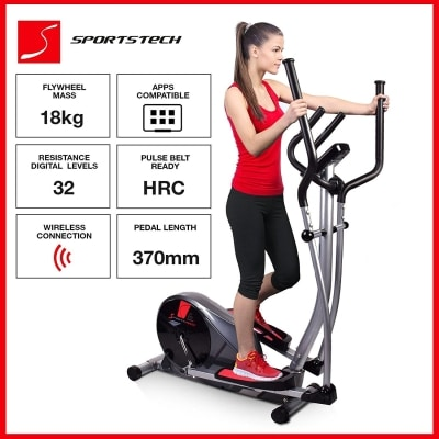 Sportstech CX610 professional crosstrainer Smartphone bluetooth Google Street View features