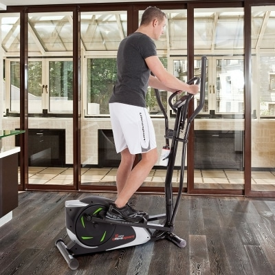 Ultrasport XT Trainer 700M 800A Cross Trainer Elliptical Trainer with Hand Pulse Sensors incl Drinking Bottle at home
