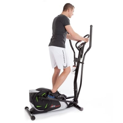 Ultrasport XT Trainer 700M 800A Cross Trainer Elliptical Trainer with Hand Pulse Sensors incl Drinking Bottle in use