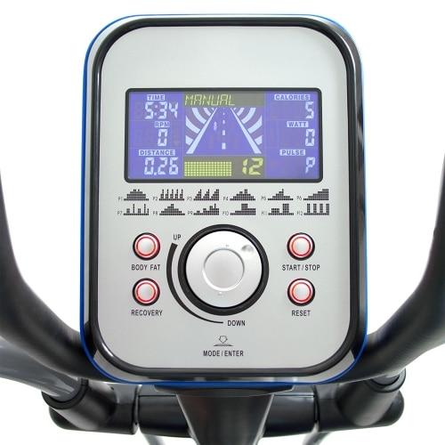 bodymax e60 crosstrainer computer view