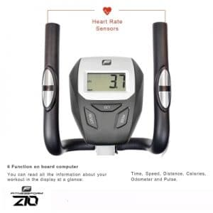 fitnessform zgt z10 cross trainer view of the control panel