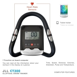 jll ct300 luxury cross trainer computer features