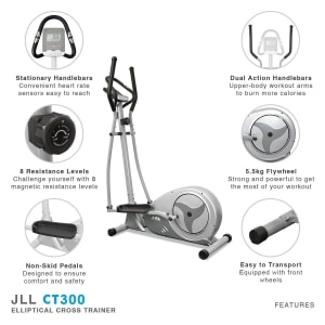jll ct300 luxury cross trainer features