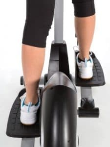 jtx strider x7 cross trainer close up feet view