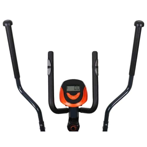 klarfit ellifit black and orange cross trainer console
