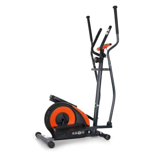 klarfit ellifit black and orange cross trainer