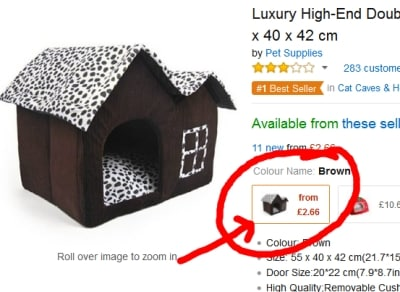cheap dog bed