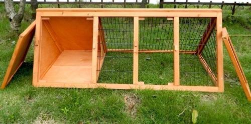 Charles Bentley Wooden Outdoor Portable Rabbit Hutch Guinea Pig Run 1