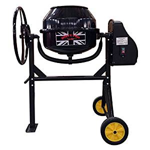 dirty pro tools black electric cement mixer 80 litre capacity