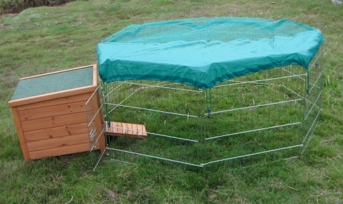 Small hide house and Octagon play section with sun cover