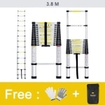 Finether 3 8M Aluminum Telescopic Telescoping Loft Extension Ladder