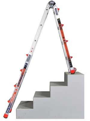 Little Giant 6 Rung Revolution XE Stair Aluminium Multi Purpose Ladders