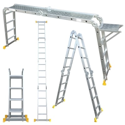 abbey aluminium multipurpose 4 7 metre ladders