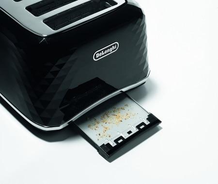 De Longhi CTJ4003 BK Brillante Faceted 4 Slice Toaster CRUMB TRAY