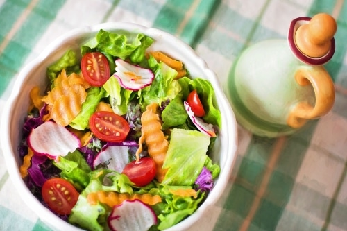salads and veggies to help fend off colds